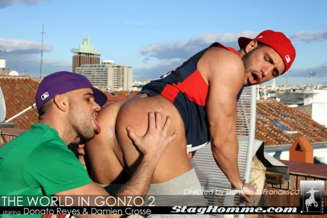 Damien Crosse and Donato Reyes Stag Homme gay porn stars fuck gay ass fucking gay asshole rimming tattoo muscle hunks 01 pics gallery tube video photo - Damien Crosse and Donato Reyes
