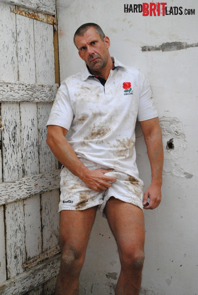 Jack Saxon 1 Ripped Muscle Hunk Strips Naked and Strokes His Big Hard Cock for at Hard Brit Lads photo1 - Hard Brit Lads: Big beefy rugby dad Jack Saxon
