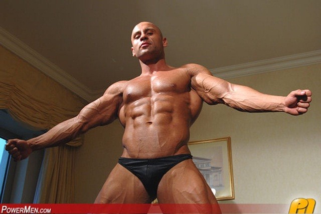 Yakov Mukileck at Powermen 1 Ripped Muscle Bodybuilder Strips Naked and Strokes His Big Hard Cock photo1 - Yakov Mukileck at Powermen
