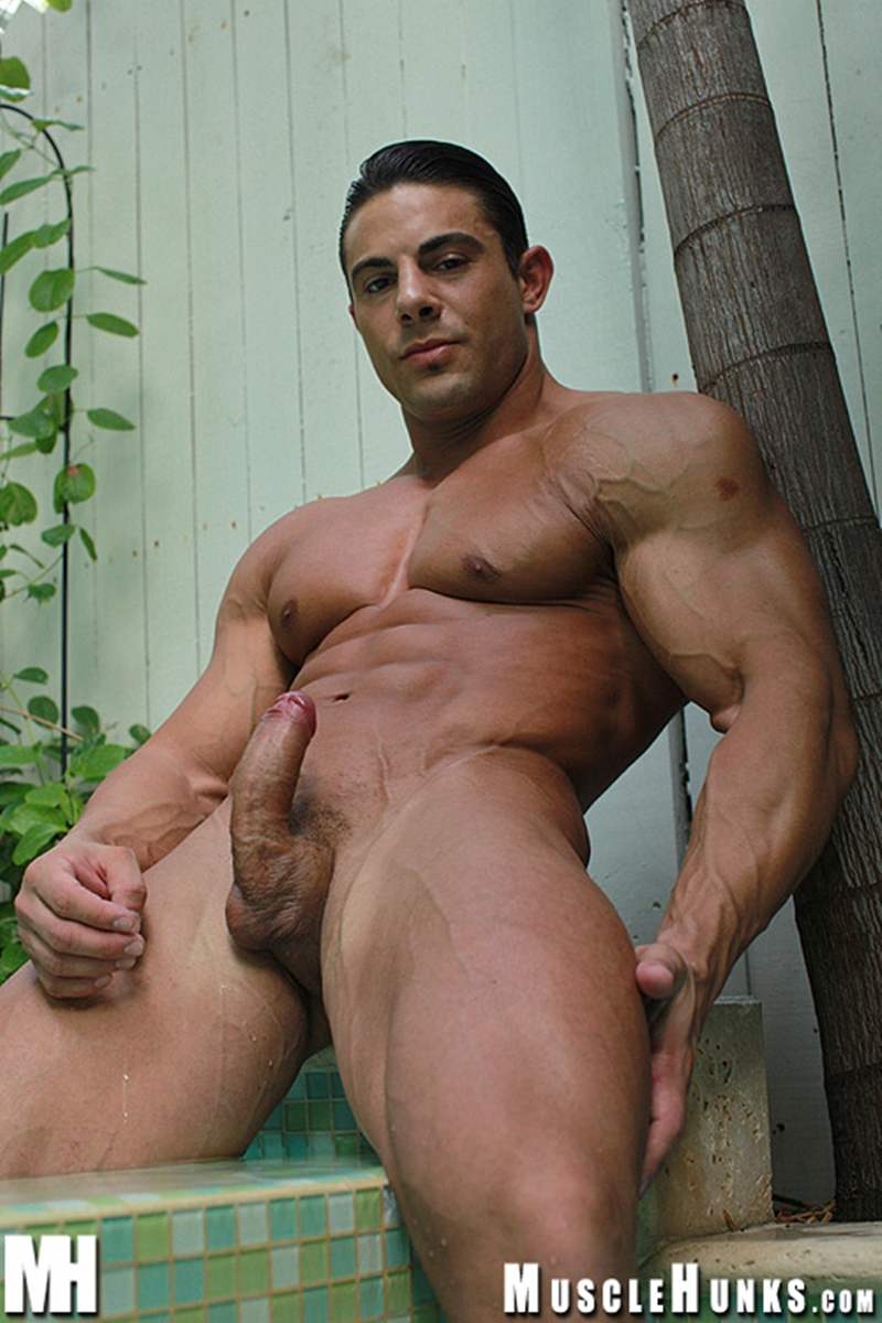 MuscleHunks Massive big muscle man Rocco Martin naked bodybuilder ripped chest six pack abs curved dick rock hard wanks 001 tube download torrent gallery sexpics photo - Rocco Martin