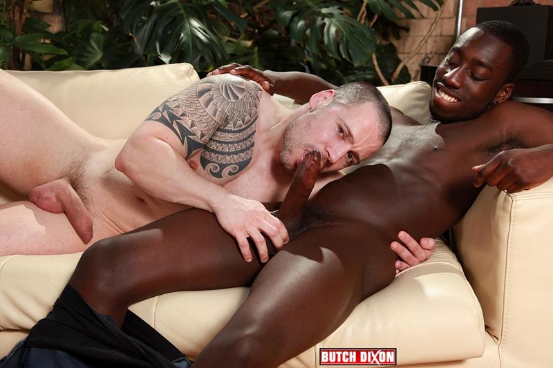 Drew Kingston's huge 9 inch black dick fucks Russ Magnus' tight white hole