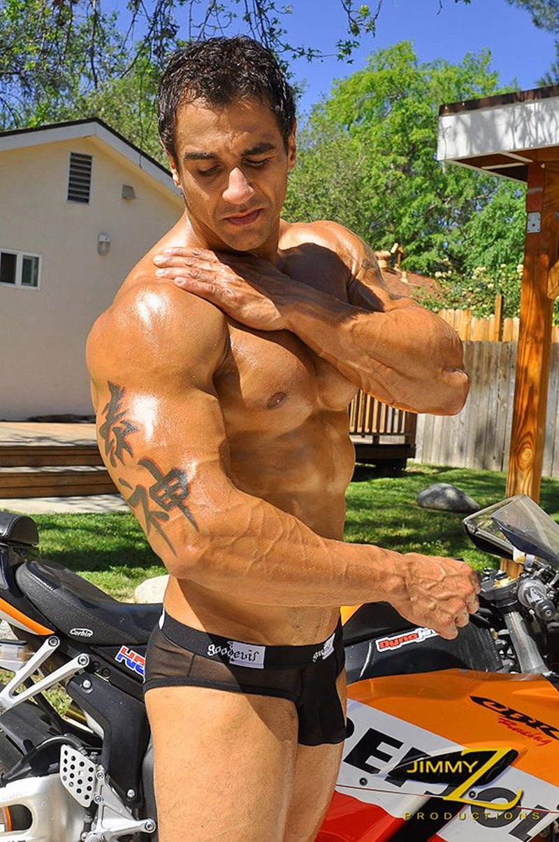 JimmyZProductions-naked-massive-bodybuilder-muscleman-Apollo-ripped-abs-and-full-pecs-motorcycle-rider-leathers-004-male-tube-red-tube-gallery-photo