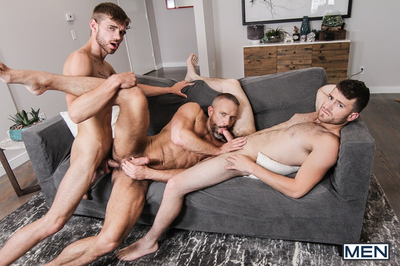 Men com hairy chest muscle studs Vincent Diaz older gay guy mature Dirk Caber beard cocksucking ass rimming fucking 020 gay porn sex gallery pics video photo - Hardcore threesome Dalton Briggs, Dirk Caber and Vincent Diaz anal fucking