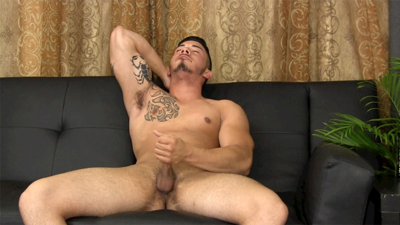 StraightFraternity sexy naked south american men athletic Puerto Rican stud Javy D straight men gay for pay horny solo jerking 012 gay porn sex gallery pics video photo - Straight Fraternity athletic Puerto Rican straight stud Javy D jerks his huge dick to a cum explosion