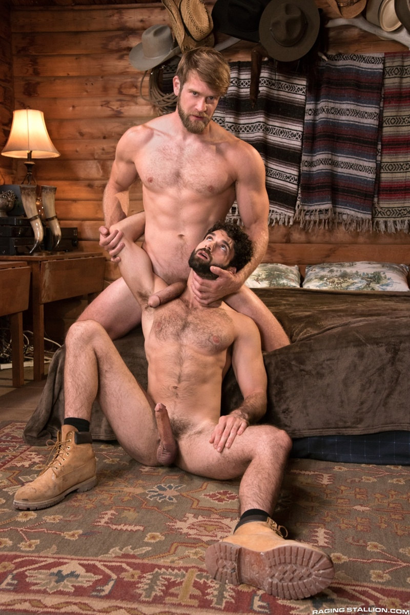 RagingStallion gay porn huge muscle dude sex pics Tegan Zayne Colby Keller massive cock deepthroat anal rimming ass fucking 006 gay porn sex gallery pics video photo - Tegan Zayne opens his mouth wide and takes Colby Keller's massive cock all the way down his throat