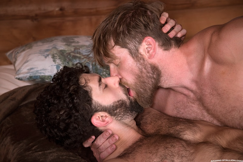 RagingStallion gay porn huge muscle dude sex pics Tegan Zayne Colby Keller massive cock deepthroat anal rimming ass fucking 014 gay porn sex gallery pics video photo - Tegan Zayne opens his mouth wide and takes Colby Keller's massive cock all the way down his throat