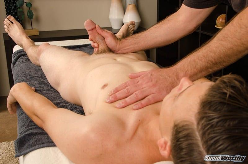 Spunkworthy gay porn straight young dude happy ending man on man massage sex pics Nolan 010 gallery video photo - Straight young dude Nolan's happy ending man on man massage