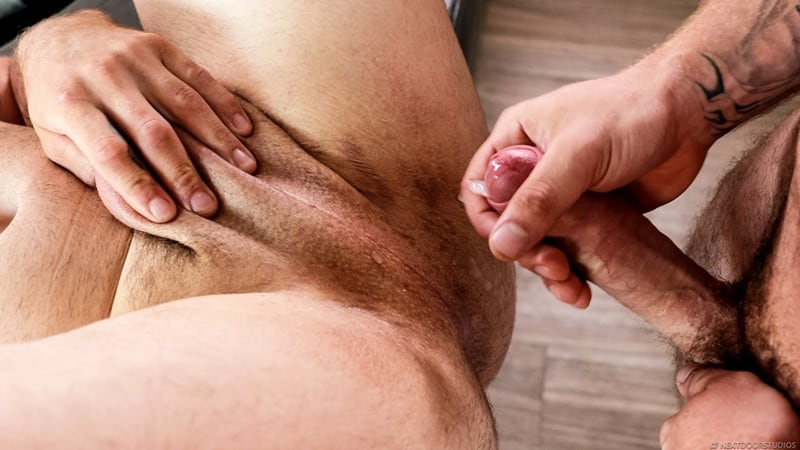 Men for Men Blog Nicholas-Ryder-Johnny-Hammer-raw-ass-fucking-huge-bare-cock-NextDoorStudios-015-gay-porn-pictures-gallery Johnny Hammer slides his bareback cock deep into Nicholas Ryder' hot raw ass hole fucking him deep Next Door World