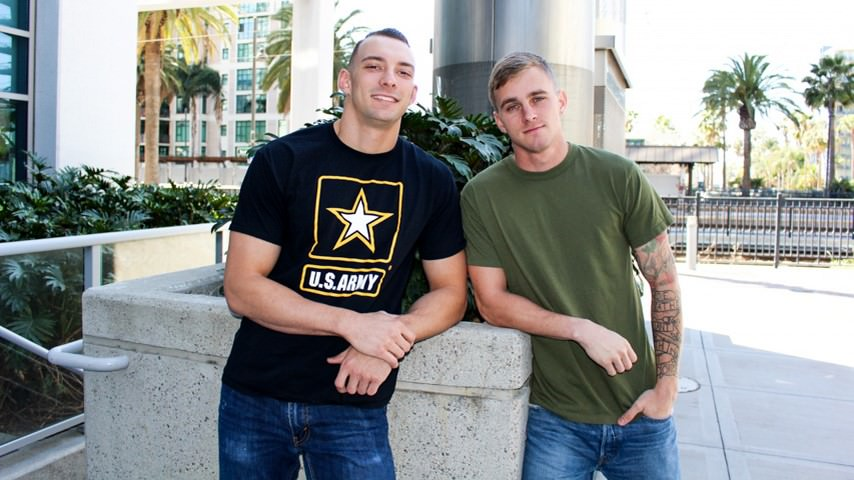 Men for Men Blog 70725_01_01 Sexed up army boys Ryan Jordan and Johnny B are both so horny that they keep swapping BJs Active Duty