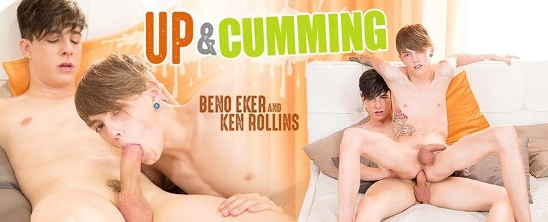 Men for Men Blog up-and-cumming-sc-3-14016-gay-porn-pictures-gallery Tattooed pup Beno Eker rides Ken Rollins' huge bareback cock reverse-cowboy fucking him deep Staxus