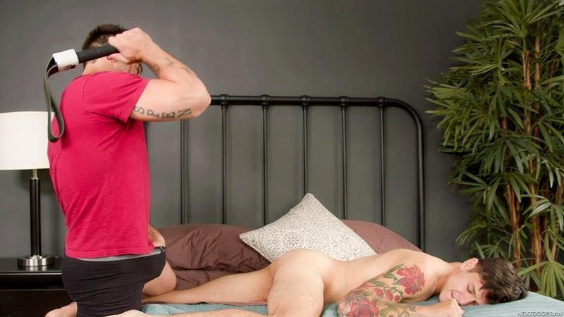 Tattooed-stud-Aspen-big-cock-fucks-younger-Jamie-Steel-smooth-bubble-butt-ass-hole-NextDoorStudios-006-Gay-Porn-Pics