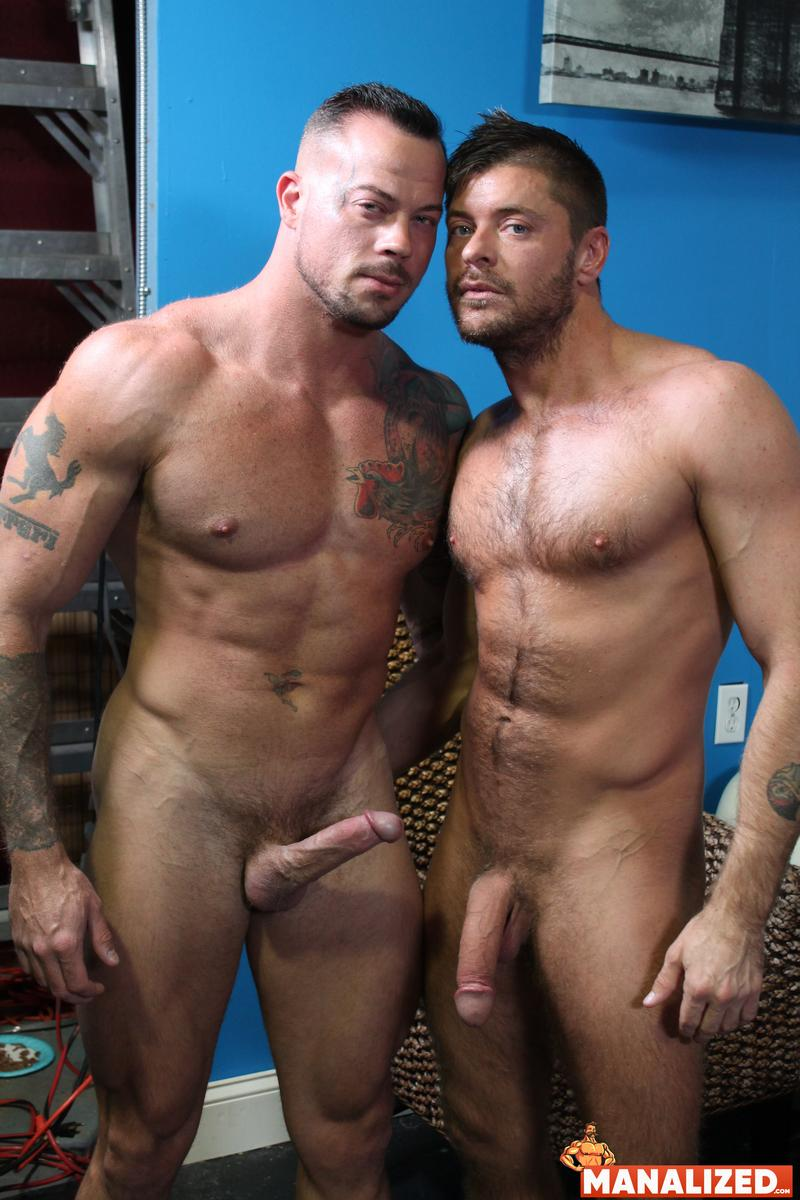 Manalized hairy muscle hunk Jack Andy bare hole fucked big muscled stud Sean Duran huge cock 1 image gay porn - Manalized hairy muscle hunk Jack Andy's bare hole fucked by big muscled stud Sean Duran's huge cock