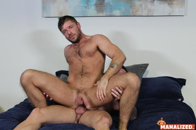 Manalized hairy muscle hunk Jack Andy bare hole fucked big muscled stud Sean Duran huge cock 16 image gay porn - Manalized hairy muscle hunk Jack Andy's bare hole fucked by big muscled stud Sean Duran's huge cock
