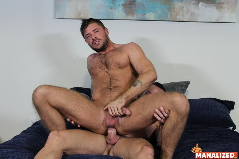 Manalized hairy muscle hunk Jack Andy bare hole fucked big muscled stud Sean Duran huge cock 17 image gay porn - Manalized hairy muscle hunk Jack Andy's bare hole fucked by big muscled stud Sean Duran's huge cock