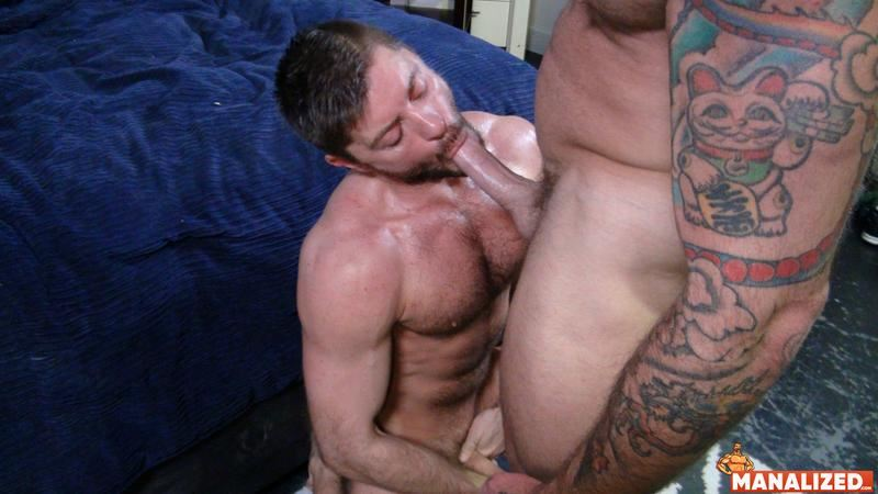 Manalized hairy muscle hunk Jack Andy bare hole fucked big muscled stud Sean Duran huge cock 2 image gay porn - Manalized hairy muscle hunk Jack Andy's bare hole fucked by big muscled stud Sean Duran's huge cock
