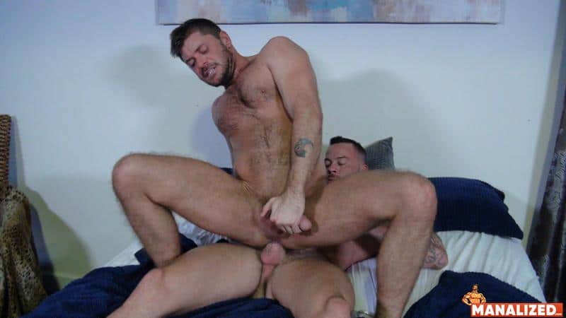 Manalized hairy muscle hunk Jack Andy bare hole fucked big muscled stud Sean Duran huge cock 6 image gay porn - Manalized hairy muscle hunk Jack Andy's bare hole fucked by big muscled stud Sean Duran's huge cock