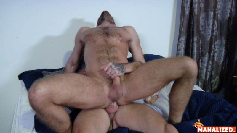 Manalized hairy muscle hunk Jack Andy bare hole fucked big muscled stud Sean Duran huge cock 7 image gay porn - Manalized hairy muscle hunk Jack Andy's bare hole fucked by big muscled stud Sean Duran's huge cock