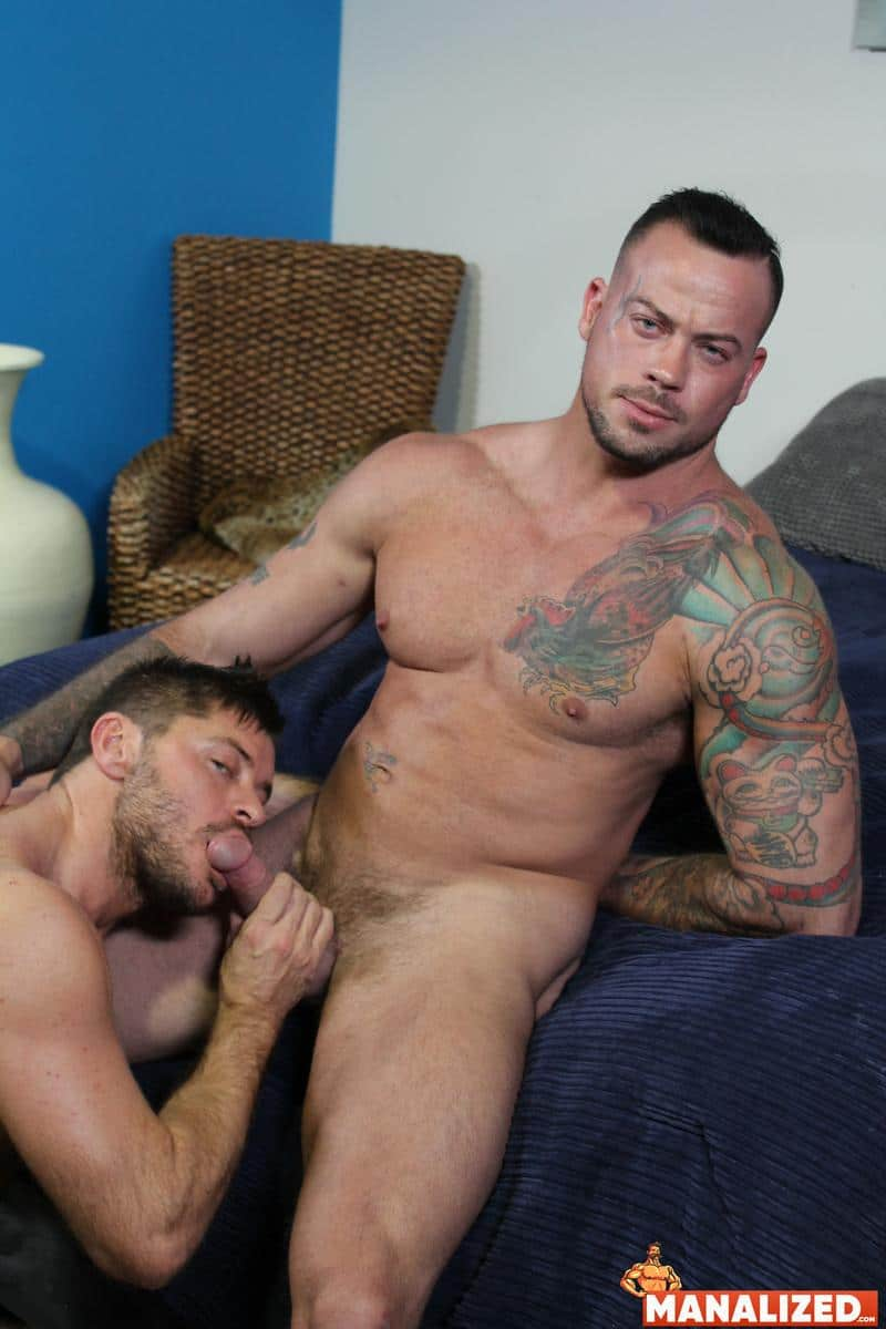 Manalized hairy muscle hunk Jack Andy bare hole fucked big muscled stud Sean Duran huge cock 9 image gay porn - Manalized hairy muscle hunk Jack Andy's bare hole fucked by big muscled stud Sean Duran's huge cock
