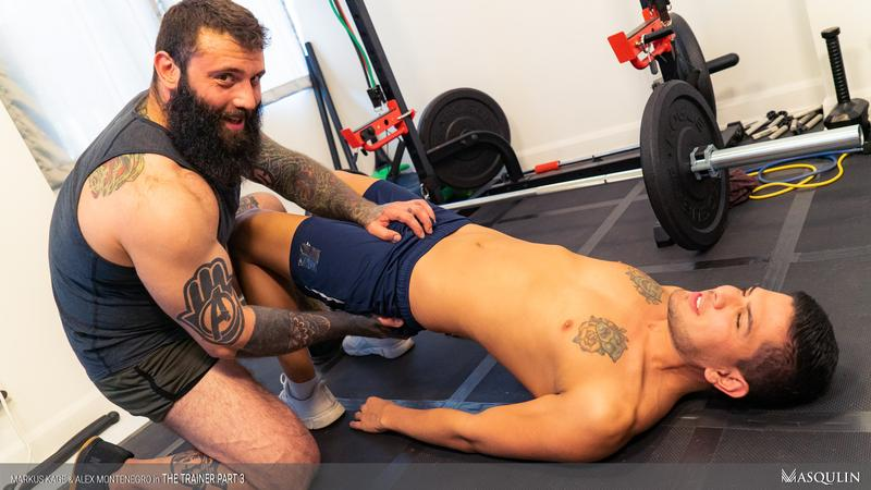 Masqulin muscle man Markus Kage huge thick erection raw fucks young pup Alex Montenegro tight bubble ass 13 image gay porn - Masqulin muscle man Markus Kage's huge thick erection raw fucks young pup Alex Montenegro's tight bubble ass