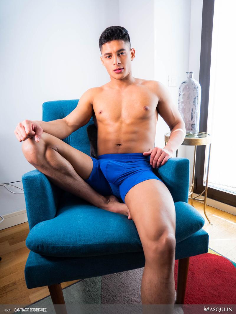 Masqulin sexy hottie young hunk Santiago Rodriguez wanking big uncut cock massive cumshot 4 image gay porn - Masqulin sexy hottie young hunk Santiago Rodriguez wanking his big uncut cock to a massive cumshot