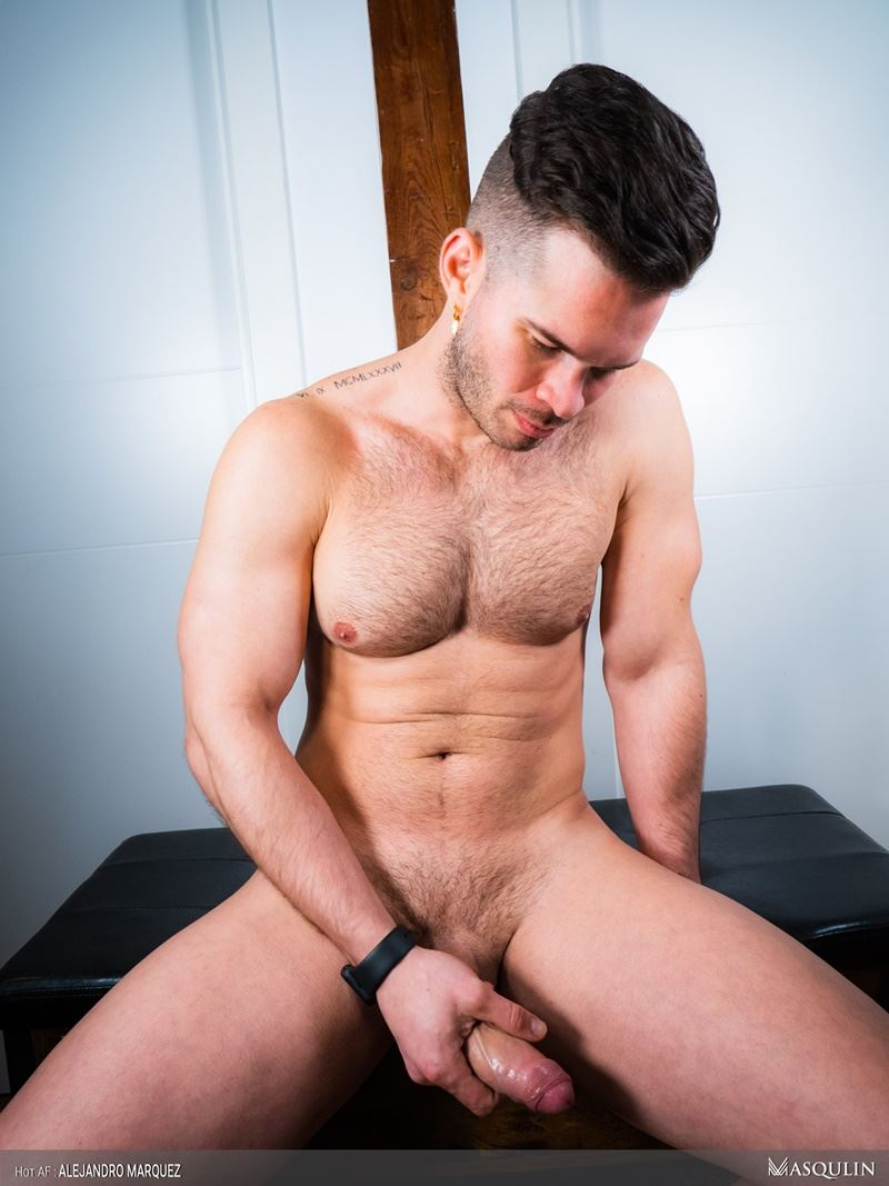Sexy young hairy chested hunk Masqulin Alejandro Marquez strokes huge cum load 015 gay porn pics - Sexy young hairy chested hunk Masqulin Alejandro Marquez strokes out a huge cum load