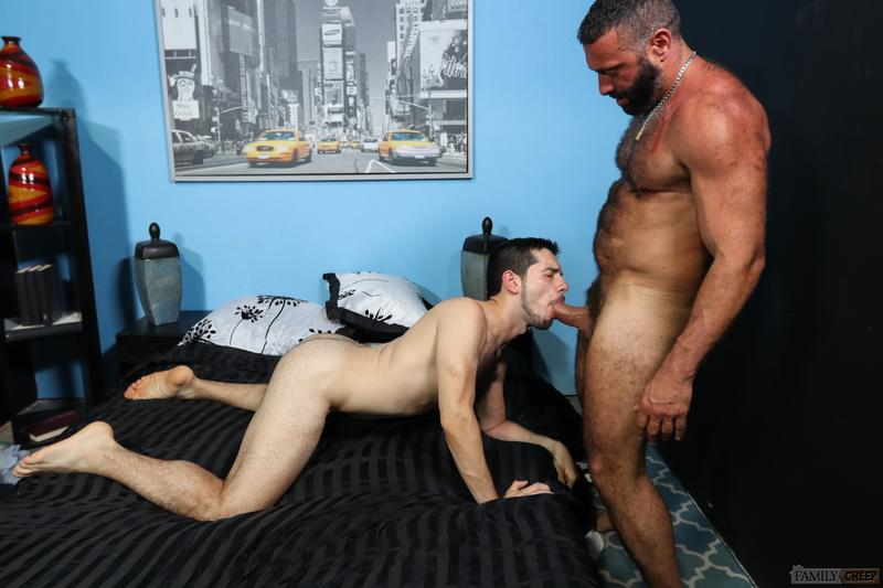 Young hairy chested hunk Aiden Joseph hot hole bare fucked big hairy daddy Alex Tikas huge dick Pride Studios 14 image gay porn - Young hairy chested hunk Aiden Joseph's hot hole bare fucked by big hairy daddy Alex Tikas's huge dick at Pride Studios