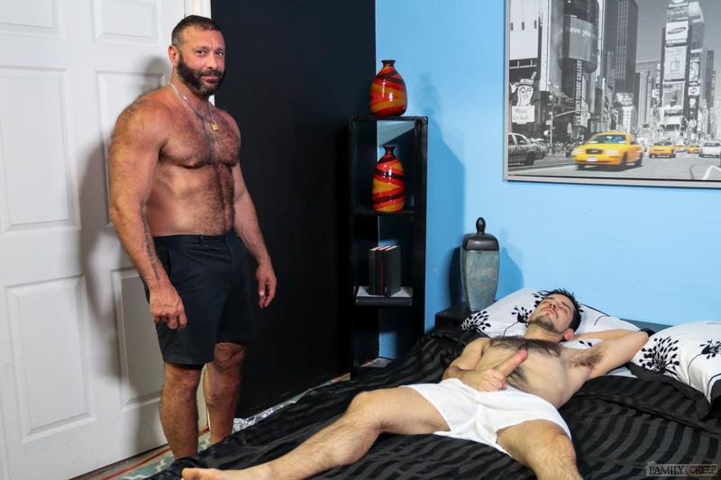 Young hairy chested hunk Aiden Joseph hot hole bare fucked big hairy daddy Alex Tikas huge dick Pride Studios 2 image gay porn - Young hairy chested hunk Aiden Joseph's hot hole bare fucked by big hairy daddy Alex Tikas's huge dick at Pride Studios