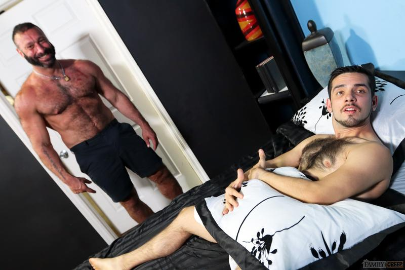 Young hairy chested hunk Aiden Joseph hot hole bare fucked big hairy daddy Alex Tikas huge dick Pride Studios 3 image gay porn - Young hairy chested hunk Aiden Joseph's hot hole bare fucked by big hairy daddy Alex Tikas's huge dick at Pride Studios