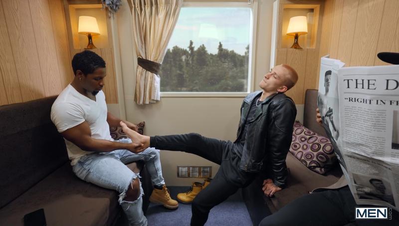 Men horny ebony hunk DeAngelo Jackson big black dick fucking young stud Theo Brady bubble butt 2 image gay porn - Men horny ebony hunk DeAngelo Jackson's big black dick fucking young stud Theo Brady's bubble butt