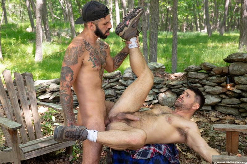 Raging Stallion sexy hairy dude Beau Butler hot asshole raw fucked Romeo Davis huge thick cock 13 image gay porn - Raging Stallion sexy hairy dude Beau Butler's hot asshole raw fucked by Romeo Davis's huge thick cock