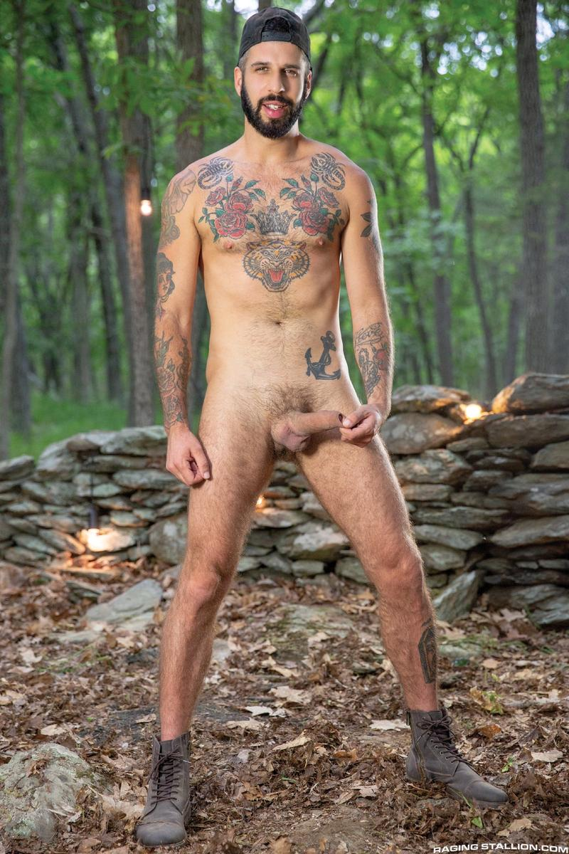 Raging Stallion sexy hairy dude Beau Butler hot asshole raw fucked Romeo Davis huge thick cock 4 image gay porn - Raging Stallion sexy hairy dude Beau Butler's hot asshole raw fucked by Romeo Davis's huge thick cock