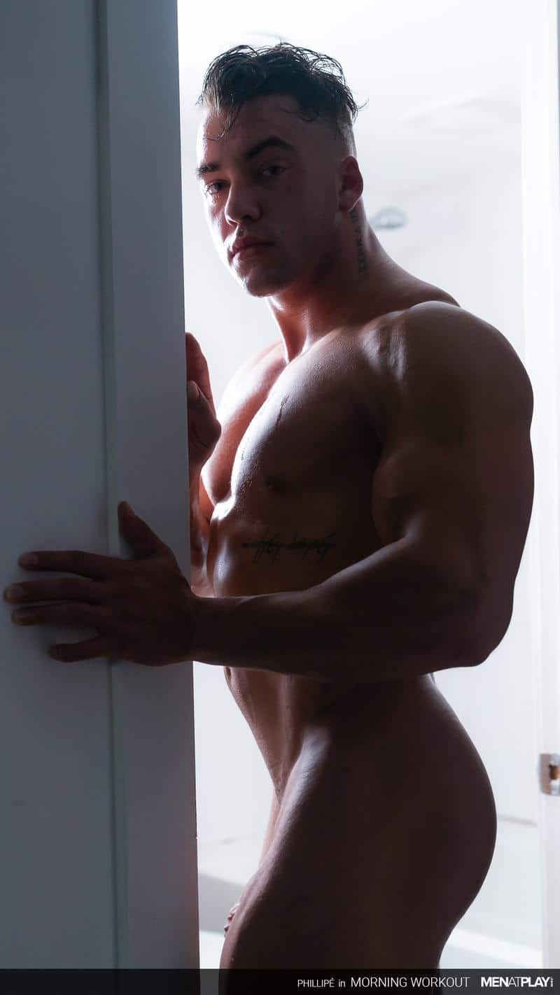 Ripped big muscle man Phillipe Massa strips off suit wanking huge thick dick Men Play 10 image gay porn - Ripped big muscle man Phillipe Massa strips off his suit wanking his huge thick dick at Men at Play