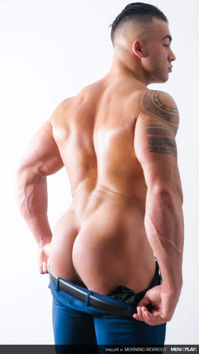 Ripped big muscle man Phillipe Massa strips off suit wanking huge thick dick Men Play 16 image gay porn - Ripped big muscle man Phillipe Massa strips off his suit wanking his huge thick dick at Men at Play