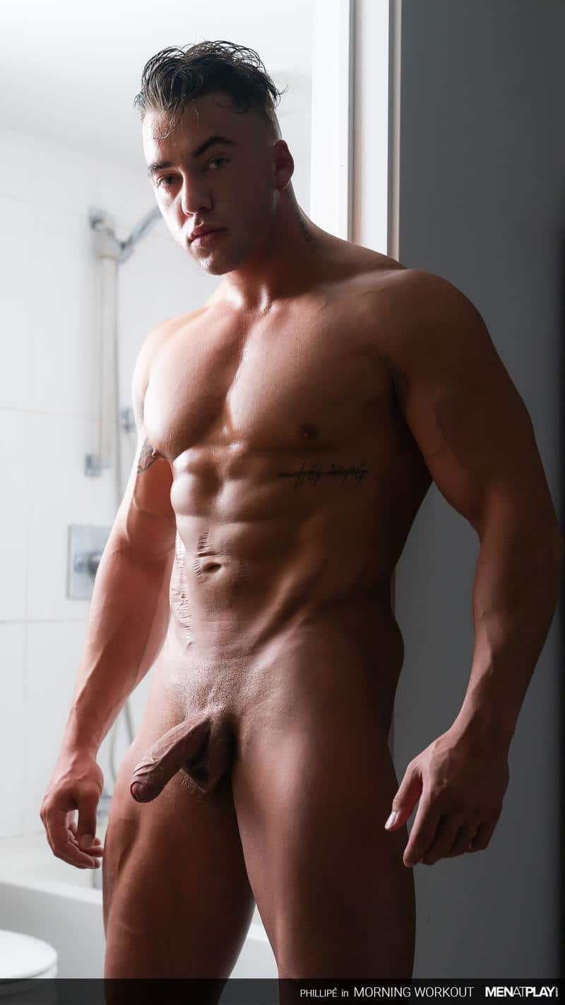 Ripped big muscle man Phillipe Massa strips off suit wanking huge thick dick Men Play 8 image gay porn - Ripped big muscle man Phillipe Massa strips off his suit wanking his huge thick dick at Men at Play