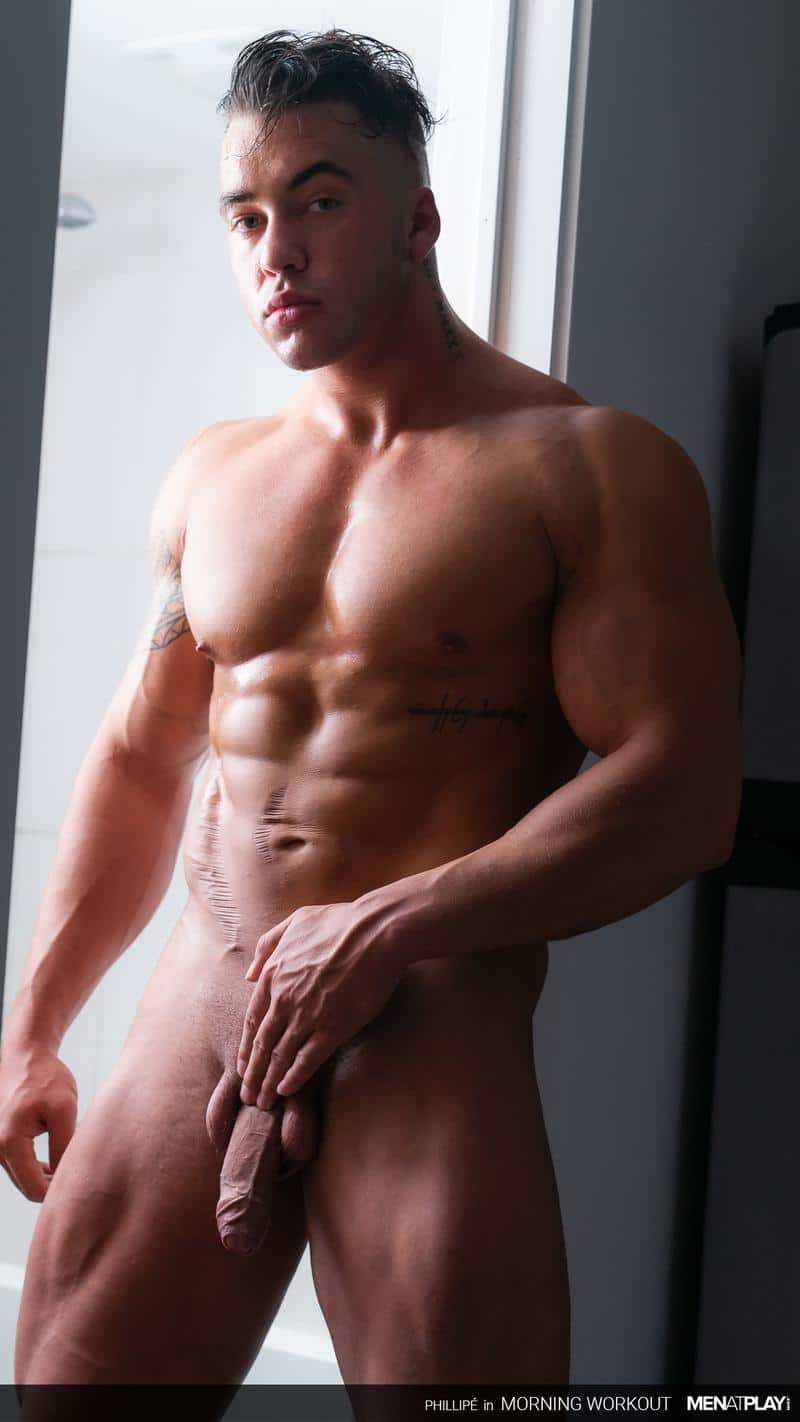 Ripped big muscle man Phillipe Massa strips off suit wanking huge thick dick Men Play 9 image gay porn - Ripped big muscle man Phillipe Massa strips off his suit wanking his huge thick dick at Men at Play