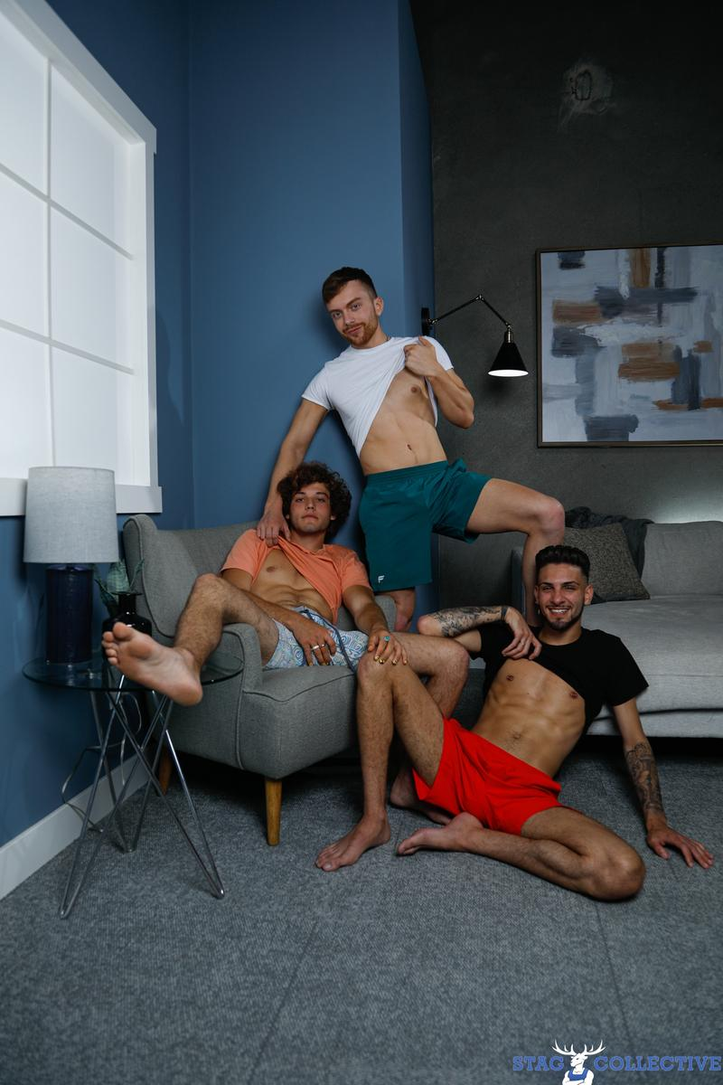 Sexy gay threesome Liam Skye Nick Thompson Blake Wilder bareback fucking ass Stag Collective 5 image gay porn - Sexy gay threesome Liam Skye, Nick Thompson and Blake Wilder bareback fucking ass at Stag Collective