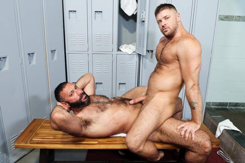Sexy hairy older dude Alex Tikas uncut dick barebacking Jack Andy tight asshole Men Over 30 10 image gay porn - Sexy hairy older dude Alex Tikas's uncut dick barebacking Jack Andy's tight asshole at Men Over 30