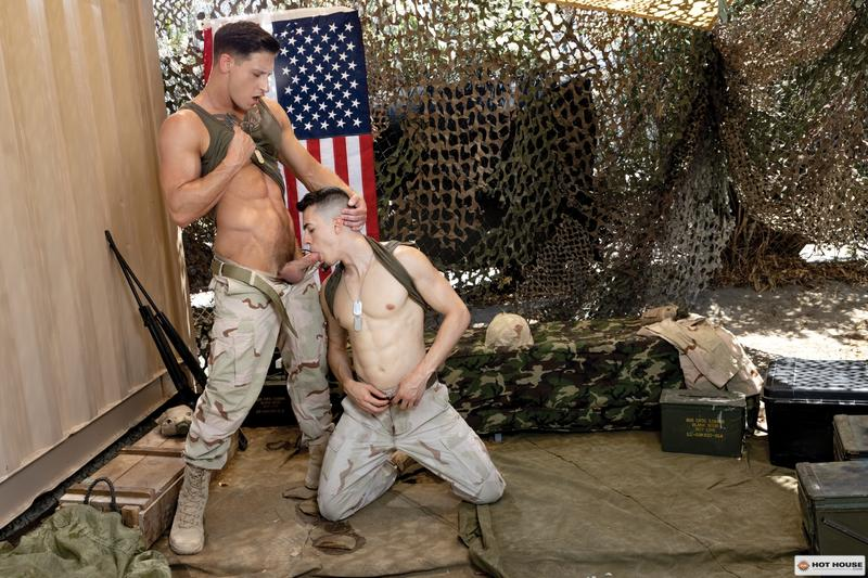 Sexy young army stud Eric Rey hot hole bareback fucked ripped hunk Dalton Riley Hot House 1 image gay porn - Sexy young army stud Eric Rey's hot hole bareback fucked by ripped hunk Dalton Riley at Hot House