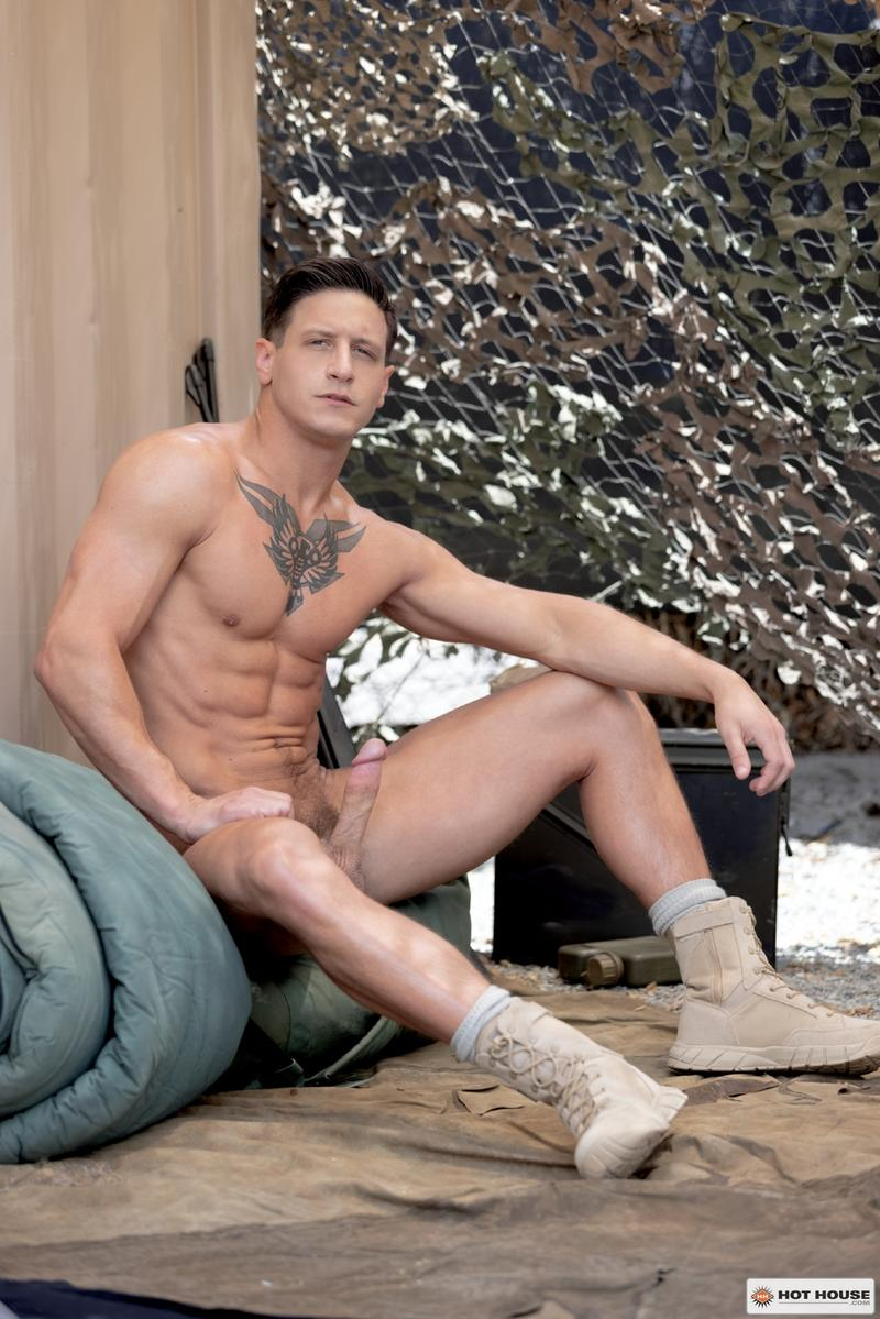 Sexy young army stud Eric Rey hot hole bareback fucked ripped hunk Dalton Riley Hot House 2 image gay porn - Sexy young army stud Eric Rey's hot hole bareback fucked by ripped hunk Dalton Riley at Hot House