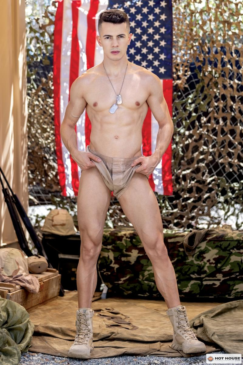 Sexy young army stud Eric Rey hot hole bareback fucked ripped hunk Dalton Riley Hot House 5 image gay porn - Sexy young army stud Eric Rey's hot hole bareback fucked by ripped hunk Dalton Riley at Hot House