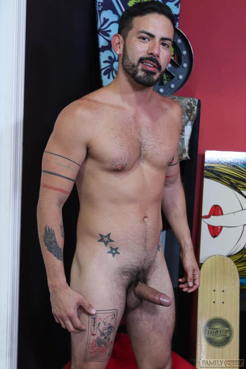 Stepbrother sexy hairy hunk Chad Taylor huge raw cock bareback fucking Cesar Rossi Pride Studios 4 image gay porn - Stepbrother sexy hairy hunk Chad Taylor's huge raw cock bareback fucking Cesar Rossi at Pride Studios