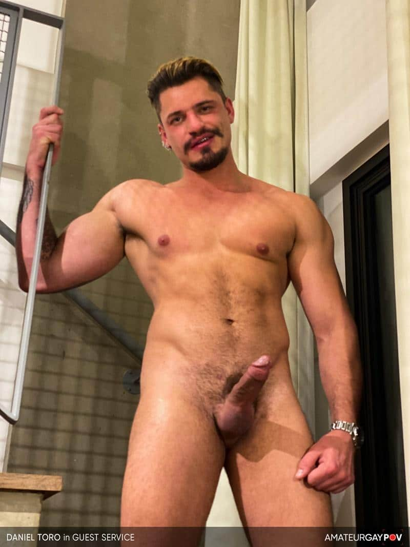 Amateur Gay POV horny older hunk Manuel Skye huge raw dick bare fucking young muscle hottie Daniel Toro 2 image gay porn - Amateur Gay POV horny older hunk Manuel Skye's huge raw dick bare fucking young muscle hottie Daniel Toro