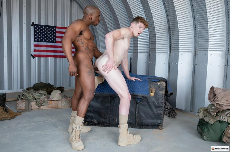 Hottie army bottom boy Max Lorde bubble ass raw fucked black muscle man Max Konnor Hot House 12 image gay porn - Hottie army bottom boy Max Lorde's bubble ass raw fucked by black muscle man Max Konnor at Hot House