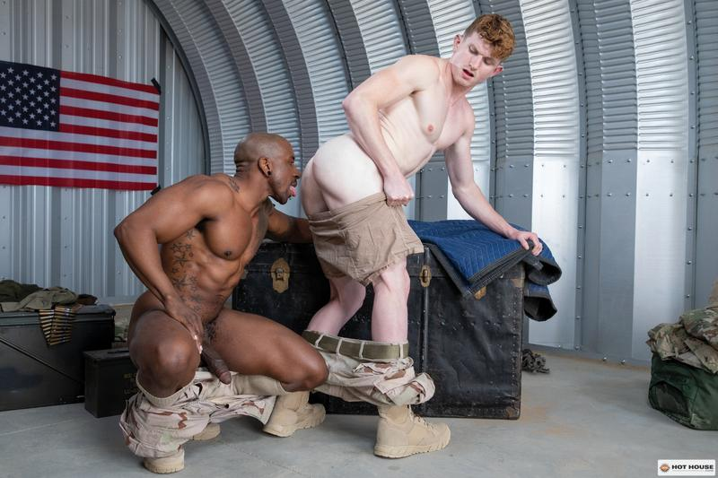 Hottie army bottom boy Max Lorde bubble ass raw fucked black muscle man Max Konnor Hot House 7 image gay porn - Hottie army bottom boy Max Lorde's bubble ass raw fucked by black muscle man Max Konnor at Hot House