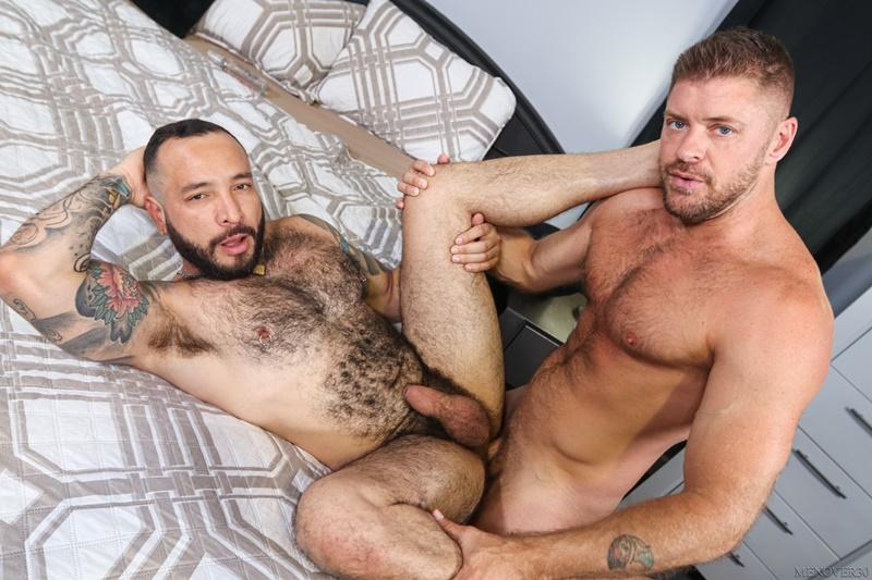 Sexy big muscle bottom Julian Torres hairy ass bare fucked horny stud Jack Andy Men Over 30 11 image gay porn - Sexy big muscle bottom Julian Torres's hairy ass bare fucked by horny stud Jack Andy at Men Over 30
