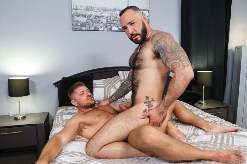 Sexy big muscle bottom Julian Torres hairy ass bare fucked horny stud Jack Andy Men Over 30 14 image gay porn - Sexy big muscle bottom Julian Torres's hairy ass bare fucked by horny stud Jack Andy at Men Over 30