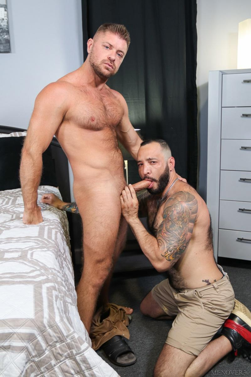 Sexy big muscle bottom Julian Torres hairy ass bare fucked horny stud Jack Andy Men Over 30 3 image gay porn - Sexy big muscle bottom Julian Torres's hairy ass bare fucked by horny stud Jack Andy at Men Over 30